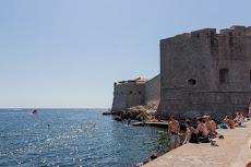 Enjoying the ocean directly in Dubrovnik.