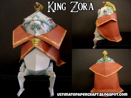 King Zora Papercraft