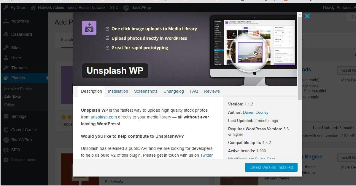 Gambar Percuma Untuk Blog WordPress Dengan Unsplash WP