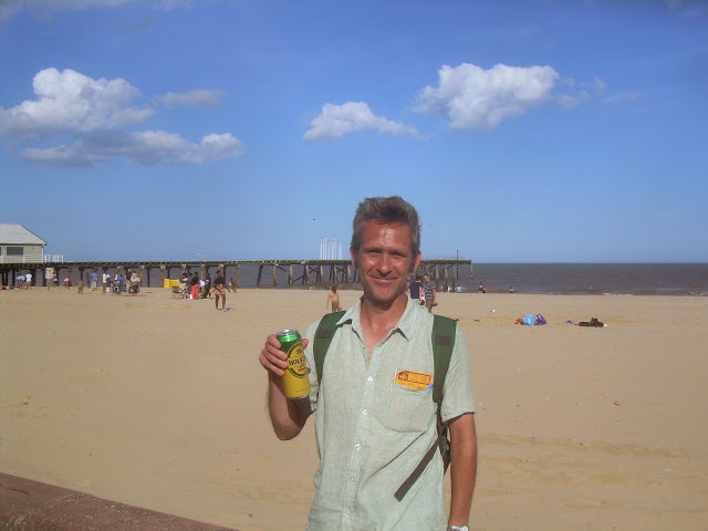 On Lowestoft beach
