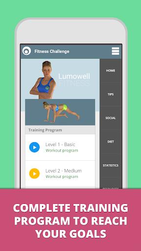 Fitness Challenge Lumowell screenshot 1