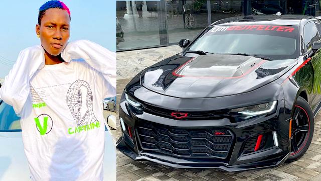 Zinoleesky buys a Chevrolet Camaro car worth 22 million Naira - HotNaija