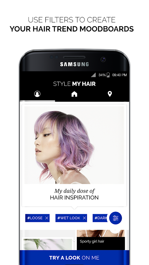 Style My Hair: hair styles and hair colors try on– skärmdump