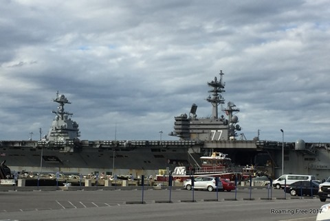 CVN-77 and CVN-78 parked next to each other