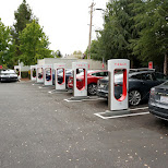 tesla charging stations at computer history museum in silicon valley in Mountain View, California, United States