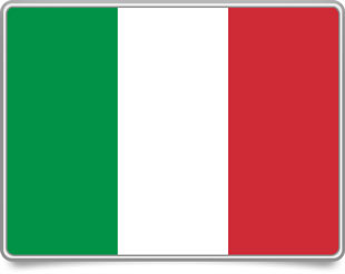 Italian framed flag icons with box shadow