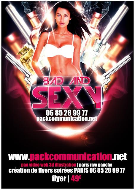 création flyers soirées thème Bad And Sexy france_0685289977