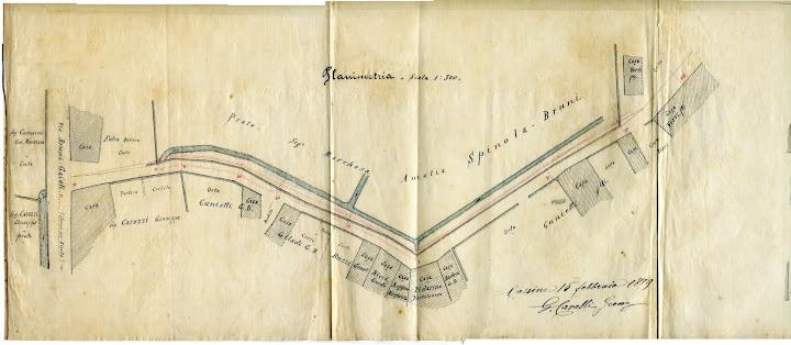 Planimetria Via Airaldi 1889