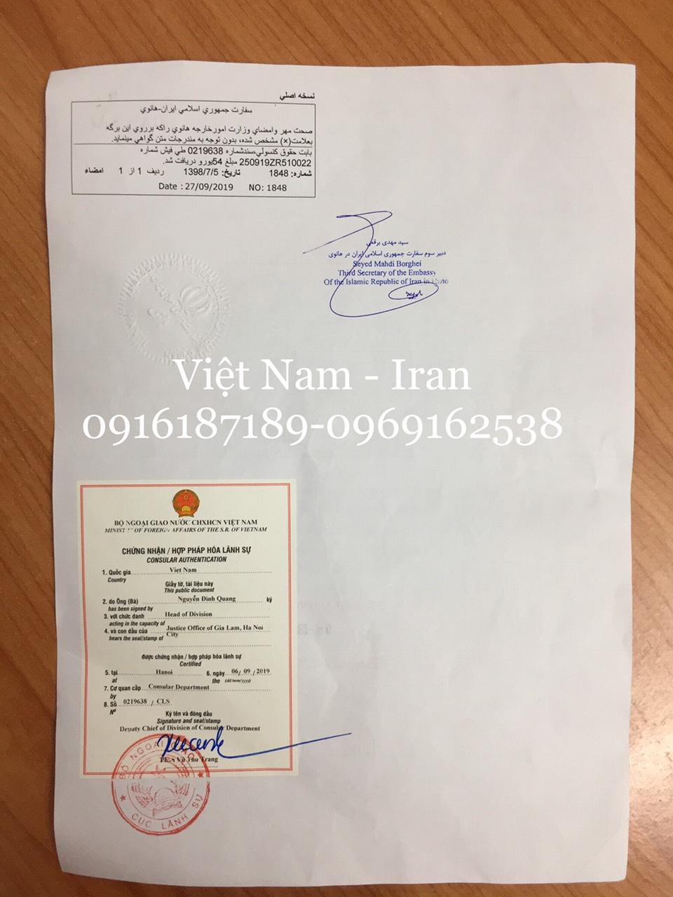 Dịch vụ chứng nhận hợp pháp hóa lãnh sự bởi Chúc Vinh Quý