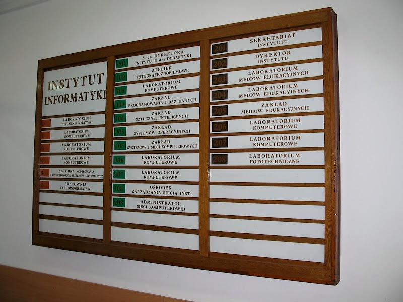 Tablica z rozkładem pomieszczeń