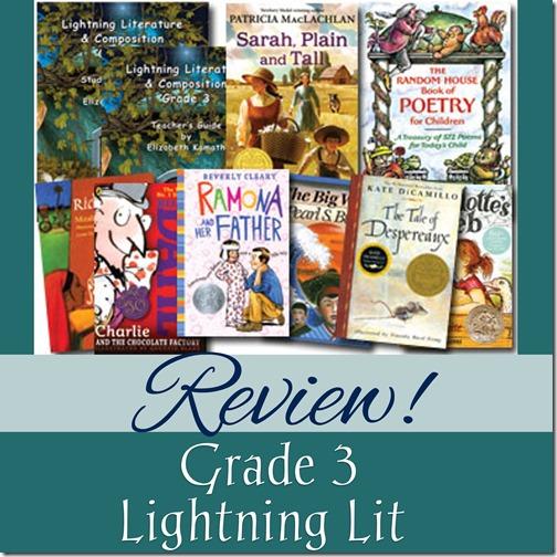 Review of Grade 3 Lightning Lit from Hewitt Homeschooling at Homeschooling Hearts & Minds