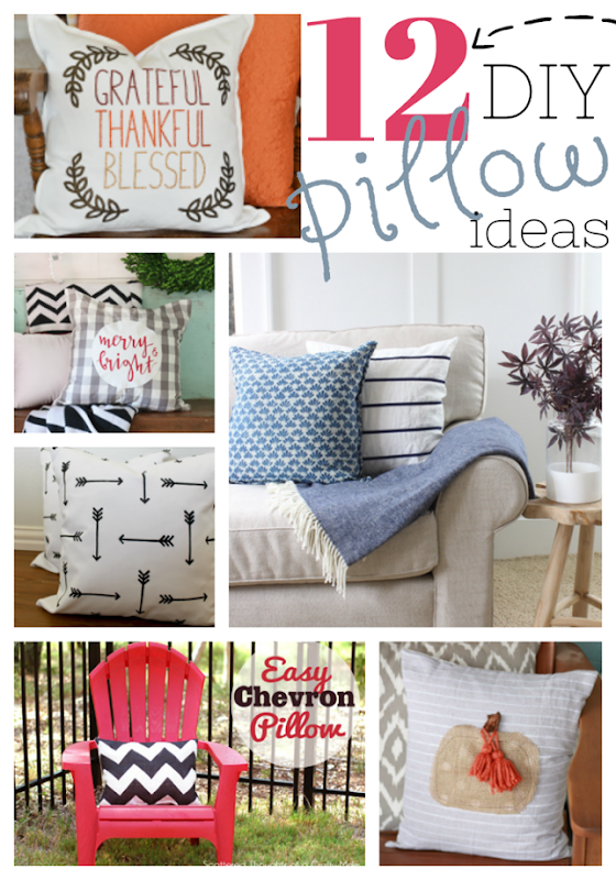 12 DIY Pillow Ideas at GingerSnapCrafts.com #pillows #homedecor #gingersnapcrafts