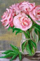 Peony Rose vase still life