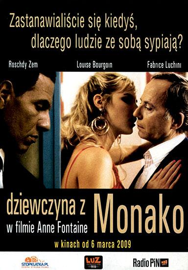 Ulotka filmu 'Dziewczyna Z Monako (przód)'