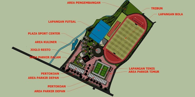 Denah Caturharjo Sport Center
