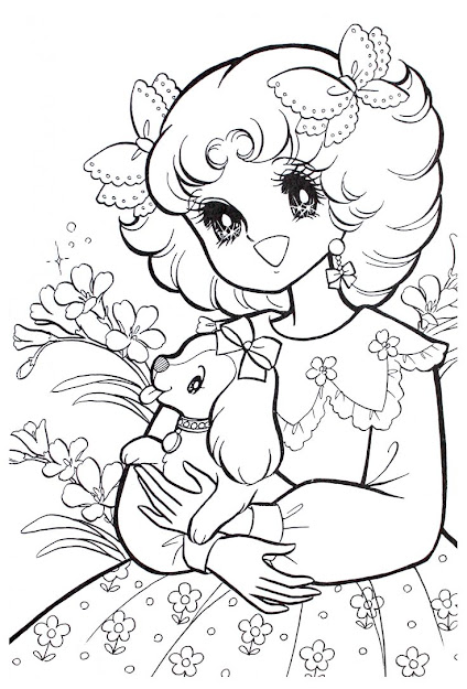 Vintage Shojo Coloring Book