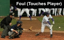 Foul (Hits Batter in Box)