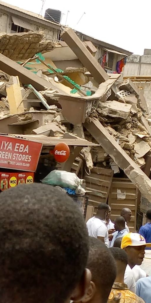 Just In: Another Building Collapses In Lagos (Photos)