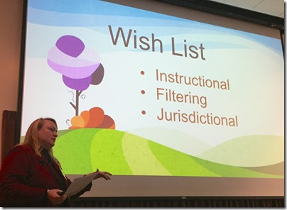 Amy Harris gave her wish list to developers and researchers at the BYU Family History Technology Workshop.