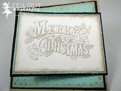 Stampin' Up! - In{k}spire_me #229, Christmas Postcard, Christmas, Nostalgiezauber, Weihnachten, Nostalgia, vintage, Joy Fold card
