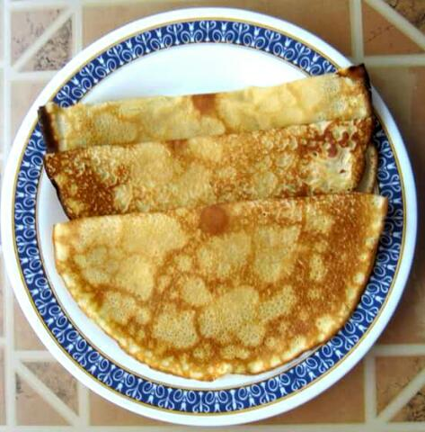Making Simple Crepes for Breakfast
