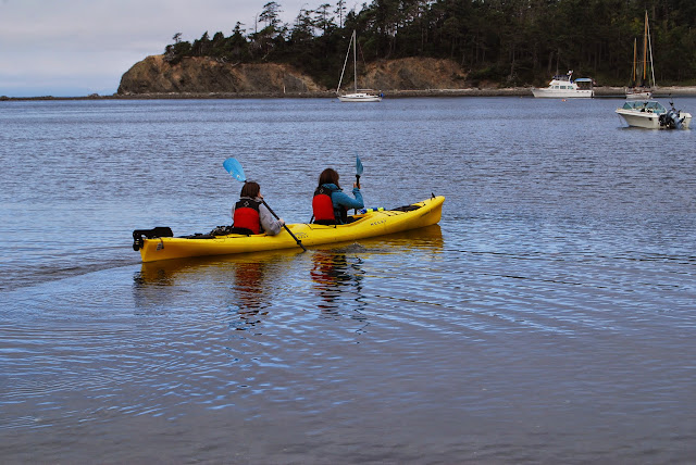 Kayakers navigate the waters along Sucia Island / Credit: Annette Bagley