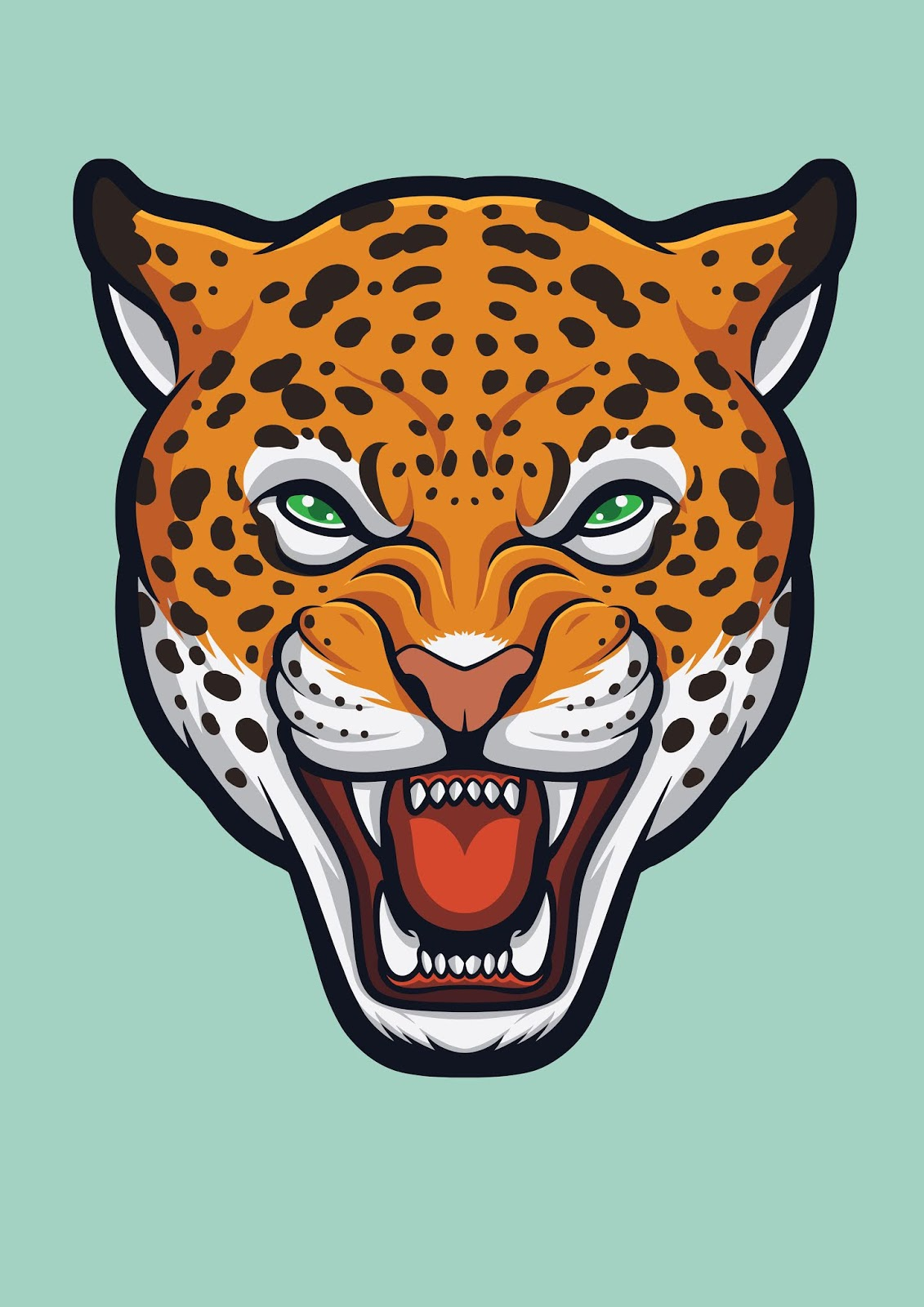 Angry Jaguar Face Panthera Onca Free Download Vector CDR, AI, EPS and PNG Formats