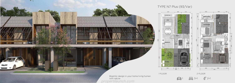 Rumah Asera Nishi Harapan Indah Bekasi Tipe N7 Plus