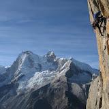 Fotos da escalada de La Esfinge, pola Vía del 85, na Cordillera Blanca, nos Andes do Perú.