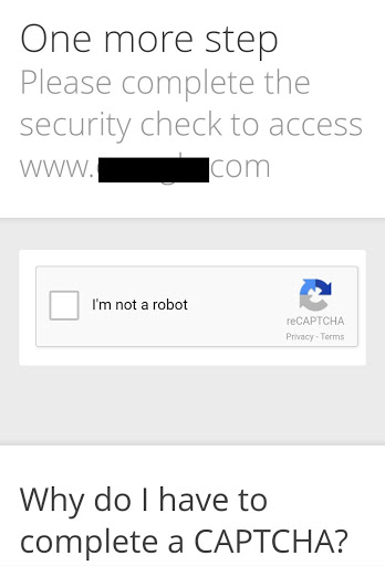 google advance recaptcha