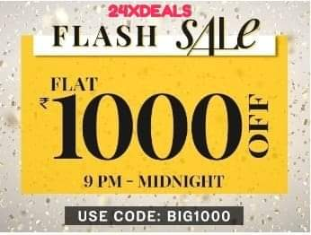 NNNOW - Flat 1000 Discount (Till 12 Midnight)