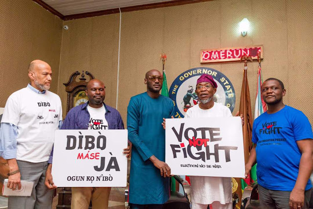 Osun state Governor Rauf Aregbesola endorses music star, 2face Peace Campaign in Osogbo today.