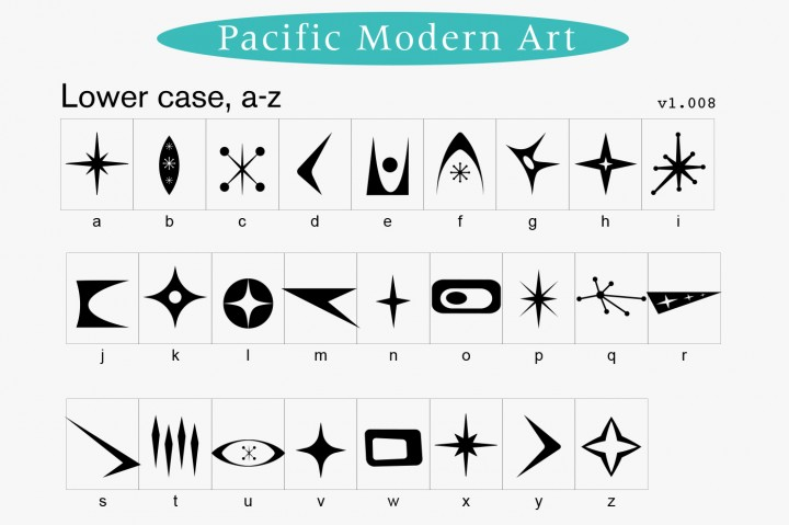 official photos e454c 22c7d Download Mid-Century Modern Ornaments Decorative Dingbats Font Family From  Pacific Modern Art ...