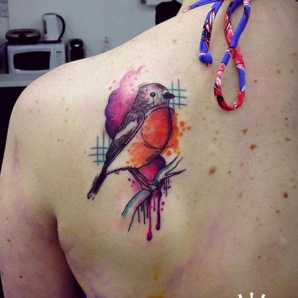 Este resumo aquarela songbird