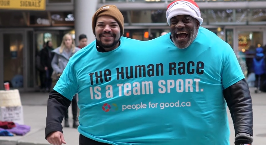 People for Good asks us all to get closer this holiday season, Zulu Alpha Kilo stunt encourages strangers to get along in Toronto