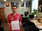 Carlos Fernandez, APD Student Highlight and Graduate shows off his recent CAHSEE Scores, November 2014