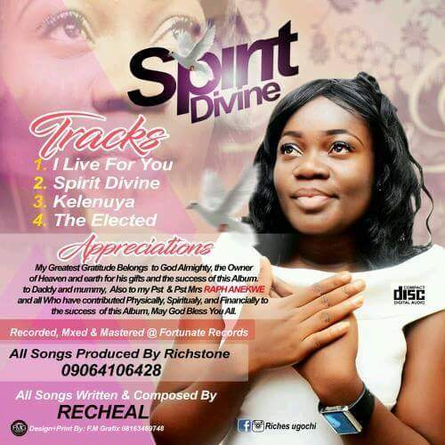 """Here Are Six (5) Things You Probably Don't Know About UGOCHI OPARA """"RECHEAL"""", SPIRIT DIVINE Crooner (Photos)"""