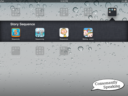 Consonantly Speaking Story Sequence Apps