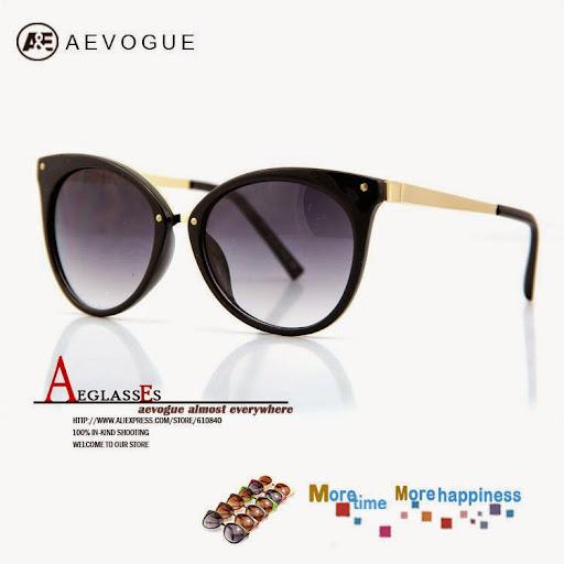 AEVOGUE Newest cat eye sunglasses women Brand Fashion s