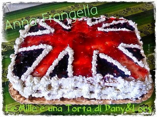bandiera inglese farcita con crema pasticcera
