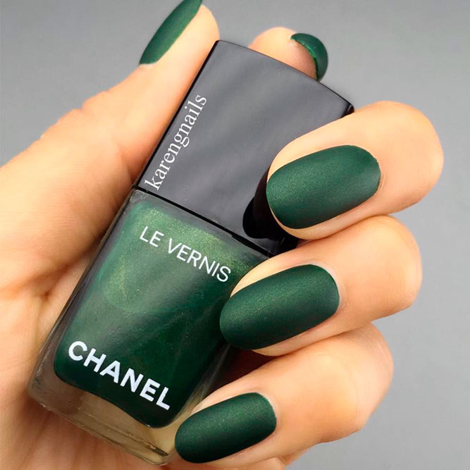 Matte Nails In Trendy Colors Of Fall Winter 2018