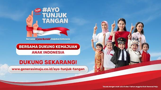 Dukung Anak Indonesia Melalui Ayo Tunjuk Tangan Bersama SGM Eksplor