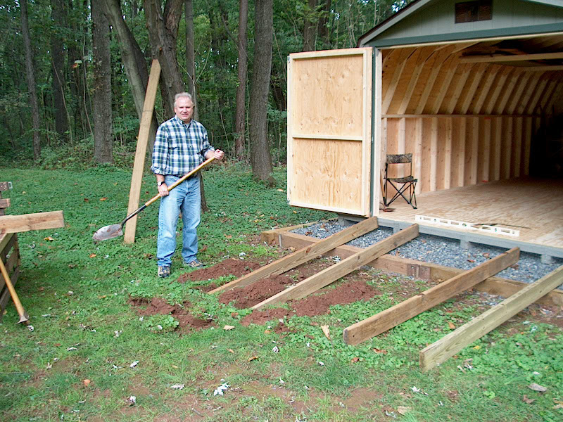 Setting Pre Built Shed And Building Access Ramp
