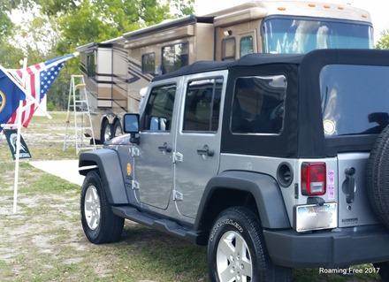The Jeep got a spa treatment, too!