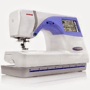 Janome Memory Craft MC 9500 Sewing and Embroidery Machine w/ 90 Built-In Embroidery Designs + 98 Sewing Stitches + 3 Embroidery Fonts + Monograms