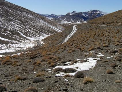 An der Passhöhe (2700 m) zwischen Msemrir und Tamtattouchte (Name unklar; man findet Tizi-n-Tirherhouzine, Tizi-n-Tirberbnuzine, Tizi-Tirherhozine, Tizi-n-Uguent-Zegasaoun)