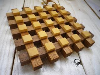 ギンガムチェックプレート gingham kumiko pot stand