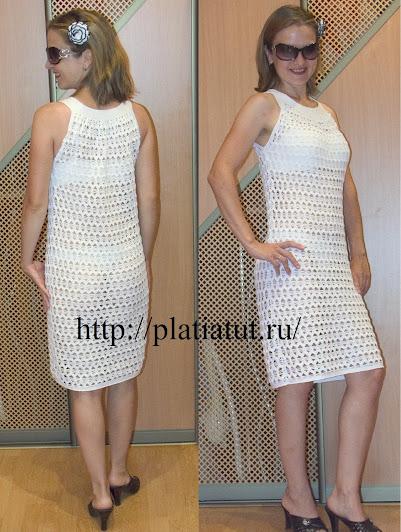 Коктейльное платье крючком