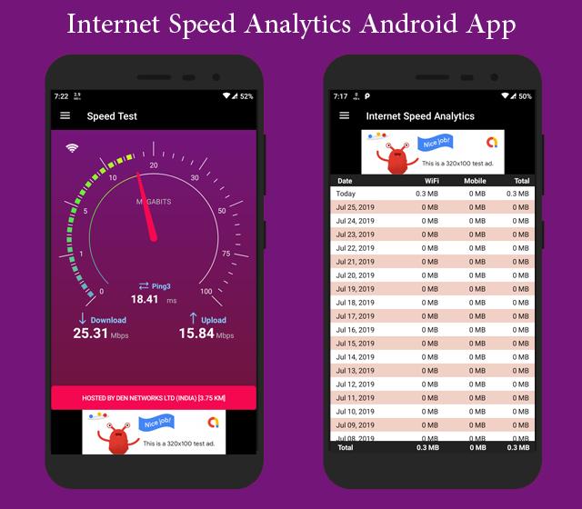 Internet Speed Analytics Android App with Admob Integration - 1