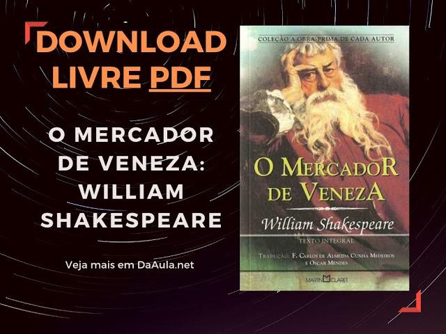 Livro O Mercado de Veneza de William Shakespeare (Download Grátis ou Leitura Online)